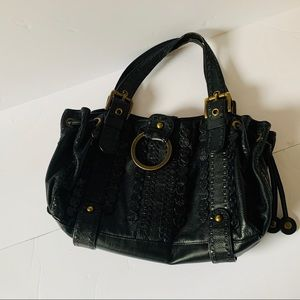 Isabella Fiore Black Leather Bag